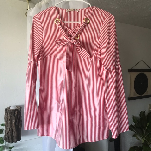 Michael Kors Tops - NWT Michael Kors Coral Reef Striped Tunic Top